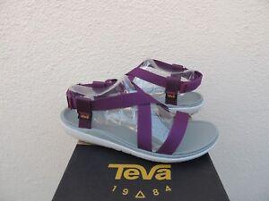 24aa55bf5 Image is loading TEVA-TERRA-FLOAT-LIVIA-DARK-PURPLE-ADJUSTABLE-SANDALS-