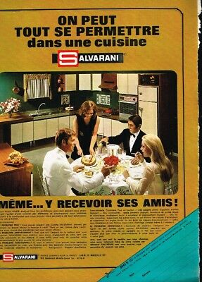Collectibles Publicité Advertising 1969 Meubles Mobilier Cuisine Salvarini Bright And Translucent In Appearance Q