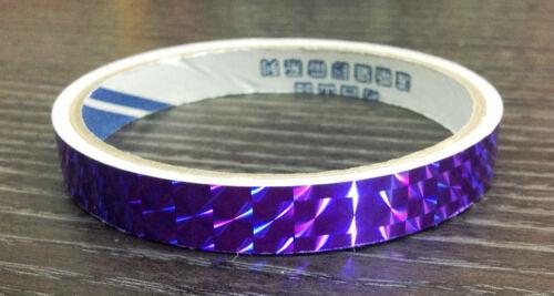 1//2 de púrpura holográfica Color Prisma Cinta Reflectante 7 Colores 18y 6x 3 Metros