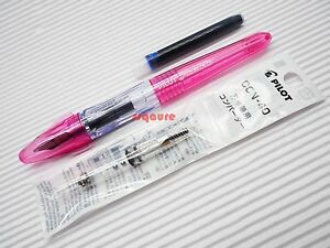 Pilot pluminix italic calligraphy fountain pen pink fine con