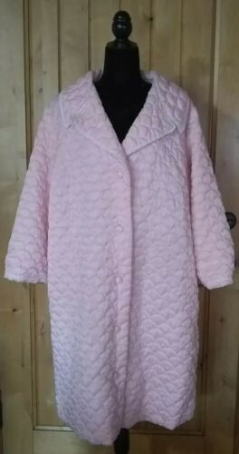 1960s Pale Pink Quilted Robe Housecoat PinUp Rocka