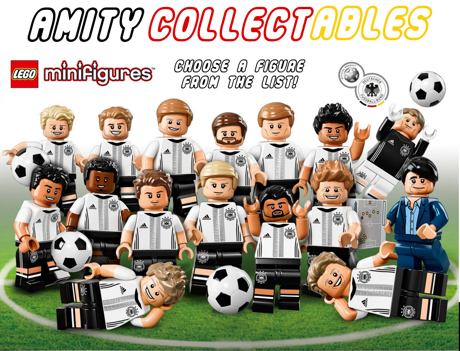 71014 LEGO DFB MANNSCHAFT (German Football Team) MINIFIGURES