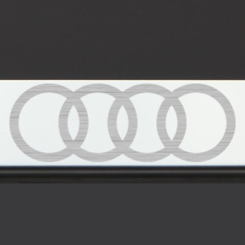 Mirror Chrome Audi Logo Laser Etched T304 Stainless Steel License Plate Frame