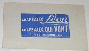 Ancienne-Image-devinette-Publicite-Chapeaux-LEON-a-SAINT-QUENTIN-AISNE