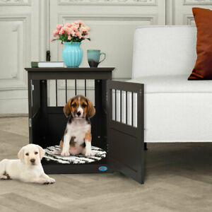 Dog-Kennel-Pet-Crate-End-Table-Wooden-Pet-Cage-Furniture-Indoor-Cat-House