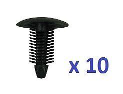Negro 10 X abeto Panel guarnecido de clips-to Fit 10 Mm Orificio para todas las marcas de automóviles