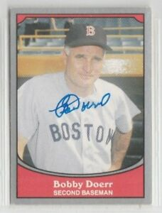 Bobby Doerr 1990 Pacific Legends signed auto autographed card Boston Red Sox
