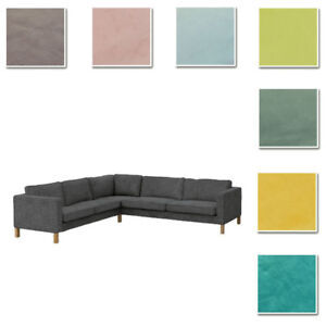 Details about Custom Made Cover Fits IKEA Karlstad 2+3/3+2 Corner Sofa,  Sectional, Velvet