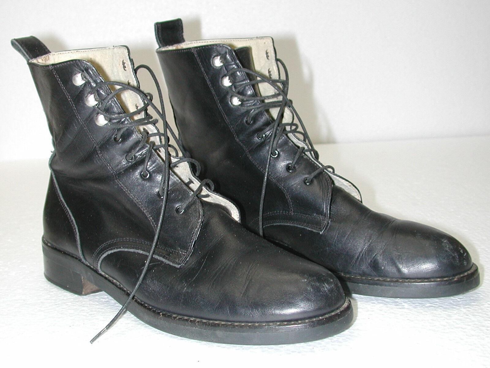 liquidación hasta el 70% Para Para Para mujer botas De Cuero Negro Made in  talla  8.5 M  ventas en linea