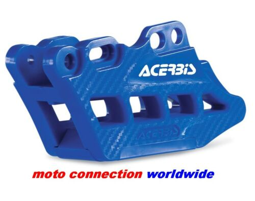 NEW ACERBIS BLUE REAR CHAIN GUIDE BLOCK WITH CARBON EFFECT FOR YAMAHA YZ250 2009
