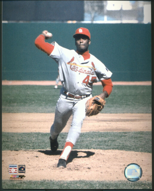 Bob Gibson Pitching St. Louis Cardinals 8x10 Photo With Toploader