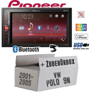 PIONEER AUTORADIO PER VW POLO 9n Bluetooth 2din mp3 USB Auto Kit installazione// ACCESSORI