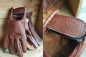 Vintage-Leather-motorcycle-gloves-black-brown-PREMIUM-harley-cruiser-etc-drive