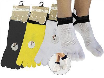 2 -5 Paar Zehen Sneaker Zehensocken Mit Echter Ferse Baumwolle Schwarz Weiß Gelb SchöN Und Charmant