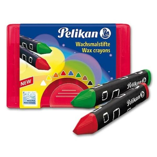 Pelikan Wachsmaler wasserfest dreieckig 8er Packung Kunststoffbox 0,74€//Stück