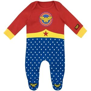 Wonder-Woman-Sleepsuit-Baby-Wonder-Woman-Pyjamas-Wonder-Woman-Footie-PJs