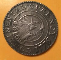 """Continental Currency 1776 Coin """"We Are One"""" Pewter Dollar Coin"""