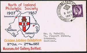North of Ireland Philatelic Society 1907 - 1957 Belfast Special Cancel