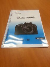 CANON  EOS1000D FULLY PRINTED INSTRUCTION MANUAL USER GUIDE 196 PAGES A5