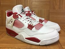 3c76336bc69279 item 4 RARE🔥 Nike Air Jordan 4 IV Retro Alternate 89 White Black Gym Red  13 308497-106 -RARE🔥 Nike Air Jordan 4 IV Retro Alternate 89 White Black  Gym Red ...