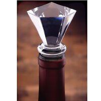 Prodyne Acrylic Gem Hexagonal Diamond Stopper W/ Airtight Silicone Seal