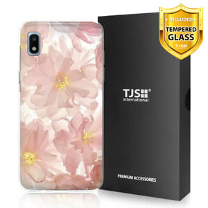 For Samsung Galaxy A10e Phone Case TJS Juno Blush Pink +Tempered Glass