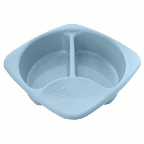 Junior Joy Top and Tail Baby Wash Hygiene Bowl 2 Sections Easy to Clean Blue