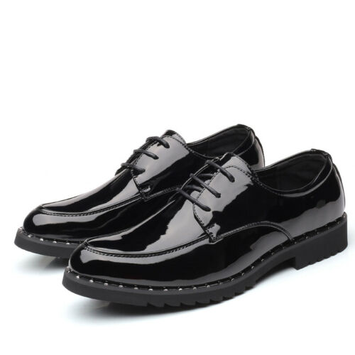 Chelsea Business Patent Leather Mens Dress Formal Shoes Lace Up Oxfords Leisure