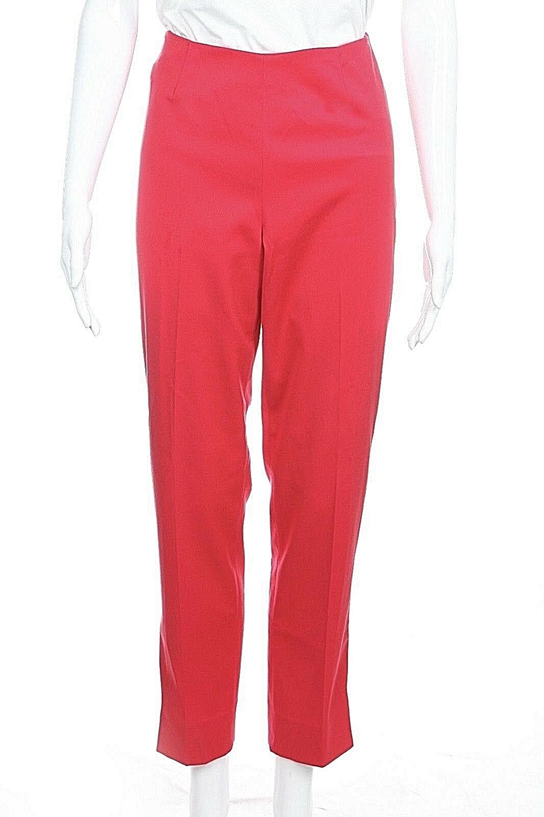 PEACE OF CLOTH Cropped Pants Size 4 Red Capris Ankle Pleated 27  Dressy