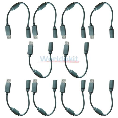 20X Wired Controller USB Breakaway Adapter Cable Cord For Microsoft Xbox 360