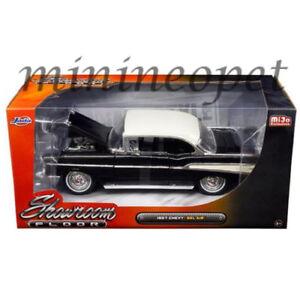 JADA SHOWROOM FLOOR 98892 1957 57 CHEVROLET BEL AIR HARD TOP 1/24 DIECAST BLACK
