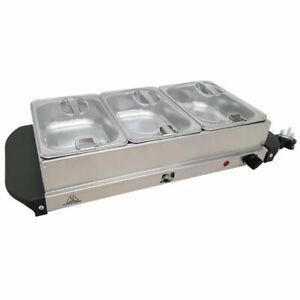 Prochef 4 Portion 300W Stainless Steel Buffet Server /& Plate Warmer