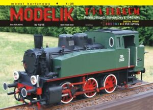 ORIGINAL PAPER-CARD MODEL KIT - Shunting steam locomotive T-3-A FERRUM from 1948
