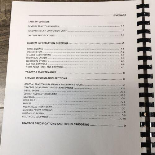 BELARUS 800 805 820 TRACTOR SERVICE MANUAL REPAIR SHOP TECHNICAL BOOK OVERHAUL