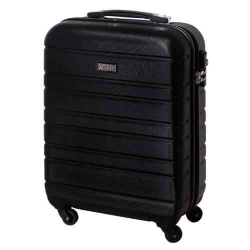 Bagages à Main Coque rigide Valise TSA Serrure Trolley 30 L Noir 815 B