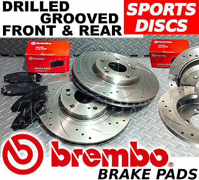 BMW 330CI 330D 330i E46 BREMBO FRONT DRILLED /& GROOVED DISCS /& PADS 99-05 325MM