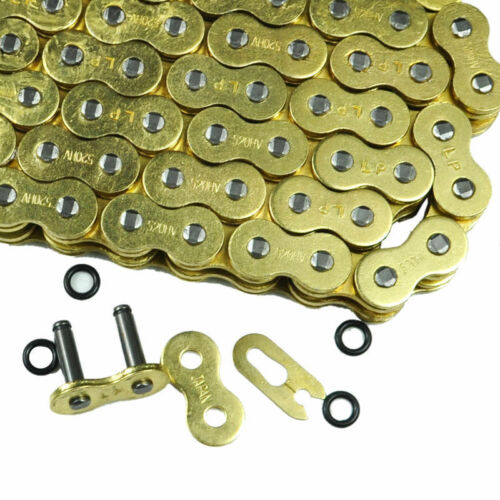 120L 520 Pitch Gold O-ring Motorcycle Drive Chain for CRF250 TTR250 new