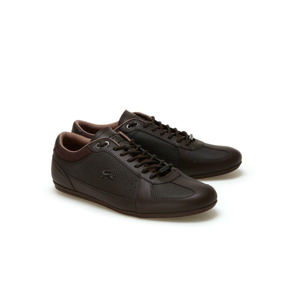 Lacoste Uomini  _sEvara Leather Trainers Marronee  qualità di prima classe