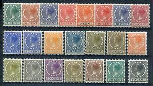 Nederland 1926, nvph 177 / 198, serie VETH met watermerk, MH; opruiming, sale