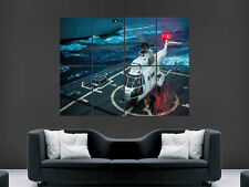 PUMA HELICOPTER DIGITAL  ART WALL LARGE IMAGE GIANT POSTER