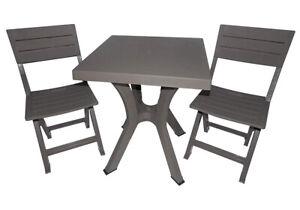 Sedie Plastica Pieghevoli Da Giardino.Set Tavolo E 2 Sedie Pieghevoli In Resina Da Esterno Giardino