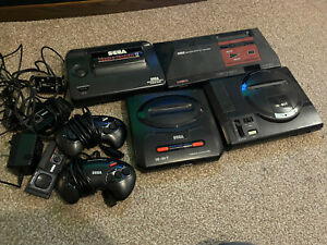 Sega Master System 1 & 2 And Mega Drive 1 & 2 With Controllers And Games