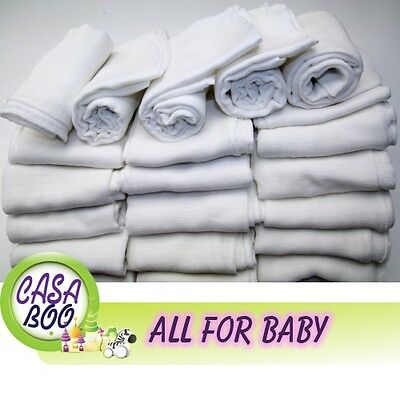 Amicable 3/5 Pcs White Baby Reusable Wipes Nappy Bibs Diaper 70x80 Muslin Square Tetra Baby Baby Wipes