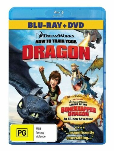 1 of 1 - How To Train Your Dragon (Blu-ray, 2010, 2-Disc Set) 'EX RENTAL'