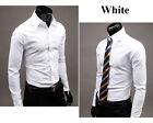 hommes mode de luxe manches longues décontracté pour Fine Robe habillée T-shirt