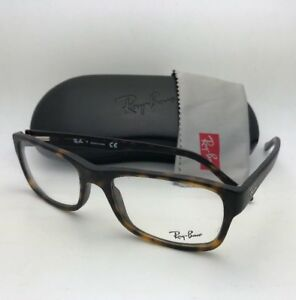 addfc75782775 New RAY-BAN Rx-able Eyeglasses RB 5268 5211 55-18 145 Matte Tortoise ...
