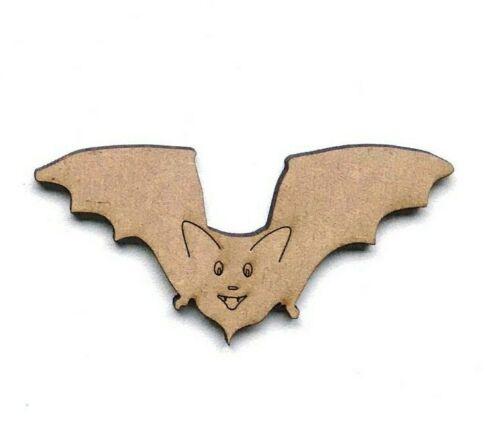 Bates De Madera Mdf Artesanía Flying Bat formas Adorno Decoración de Halloween