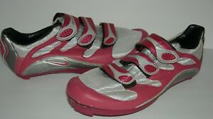 4f1f941bfd25d NIKE Road Mountain Cycling Shoes Pink Silver Size 6 US 36 EU 3.5 UK ...