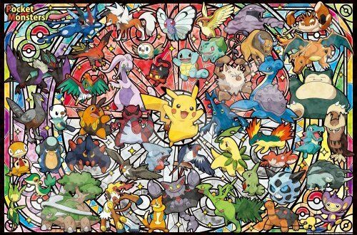 Ensky 1000 Piece Art Crystal Jigsaw Puzzle Pokemon Best Partner Toy Game
