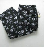 Pendleton Black White Womens Floral Loose Fit Classic Size 10 Ladies Vtg